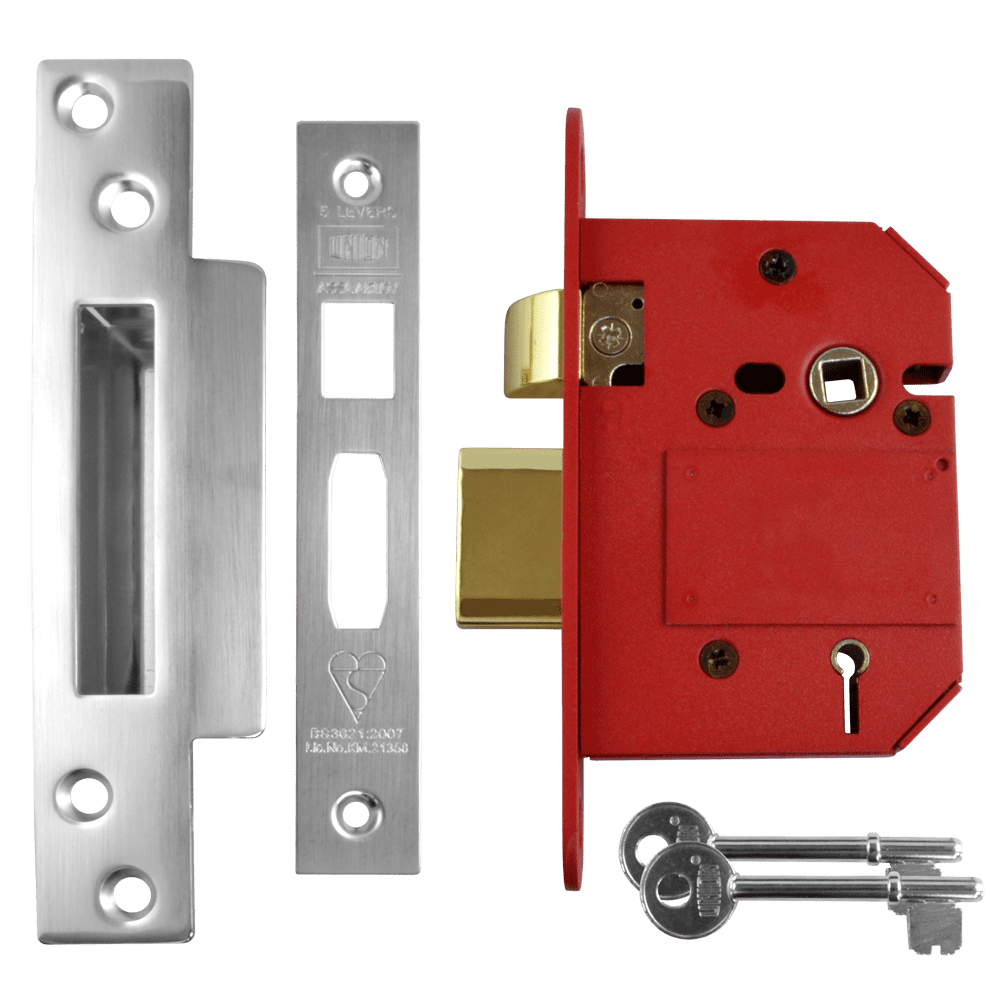 UNION J2200 StrongBOLT BS 5 Lever Sashlock - 75mm SC KD Boxed